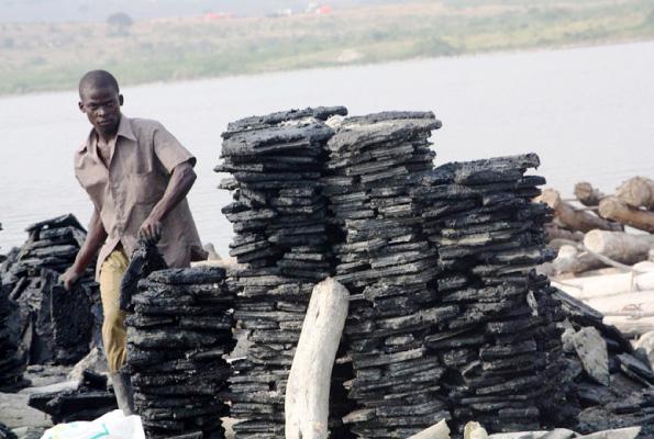 Salt deposits on Lake Katwe