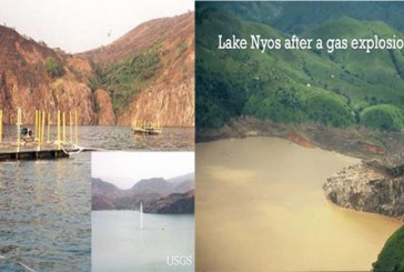 Africa the only continent in the world with exploding lakes